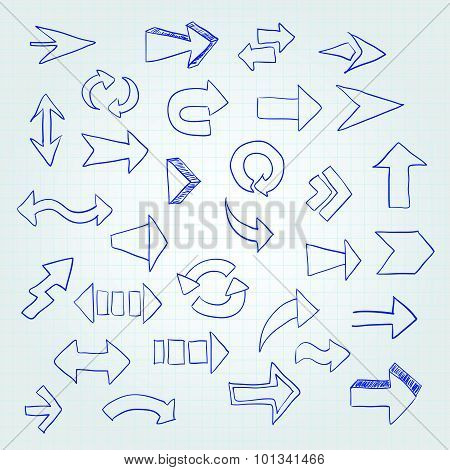 Vector Set Of Different Arrows.