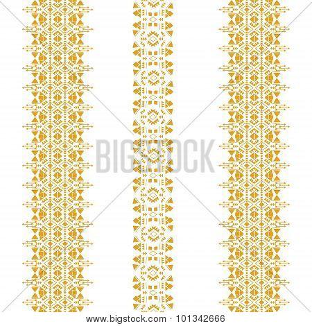 Tribal seamless pattern gold vertical