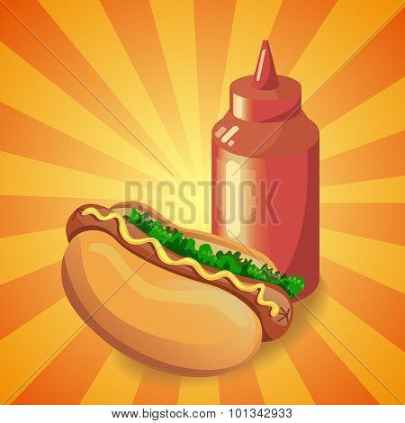 Ketchup and hot dog