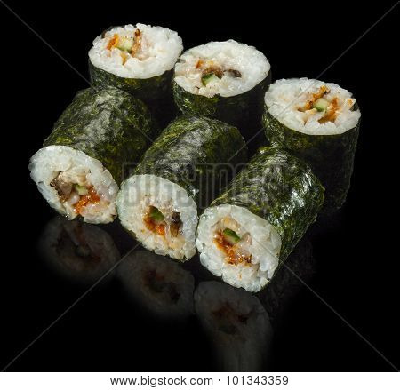 Sushi Roll With Eel And Cucumber