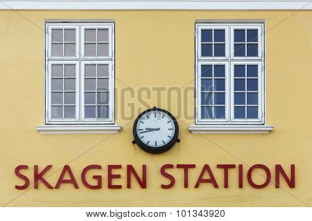 The old train station in Skagen, Denmark