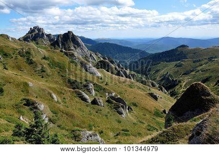 Beautiful Mountain Vista, Sedimentary Rocks In The Carpathians