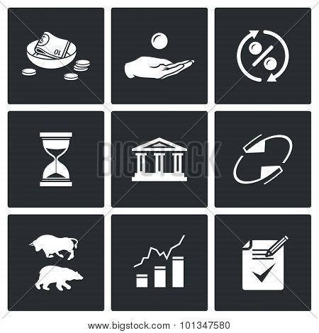 Loan Icons. Vector Illustration.