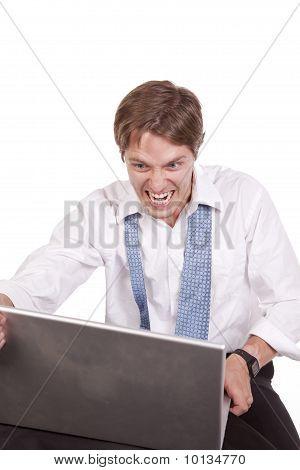Crazy Man Laptop