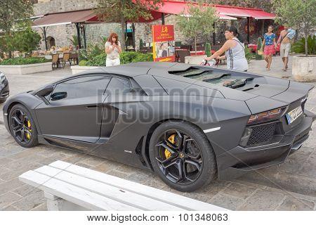 Montenegro Budva - September 05 2015: Luxury Sports Car Lamborghini Countach 5000 Quattrovalvole.