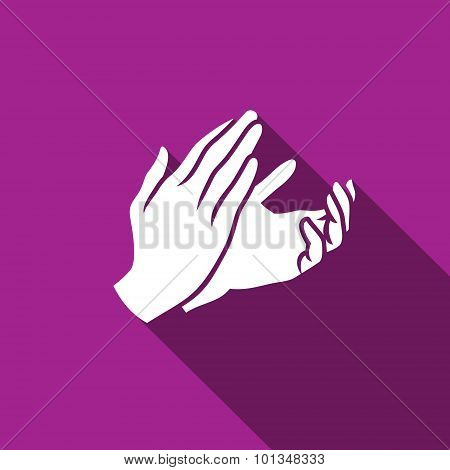 Applause, Clapping Icon. Vector Illustration