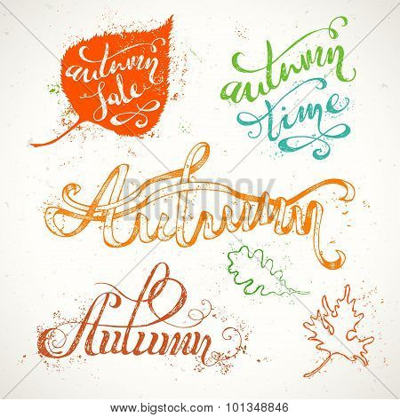 Hand-written Autumn Lettering.