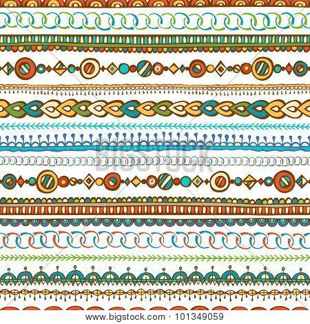 Seamless Hand-drawn Ethnic Pattern.