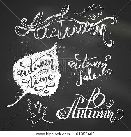 Chalk Autumn Lettering.