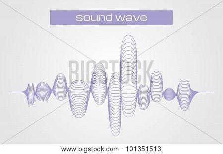 Vector Illustration Of A Sound Digital Equalizer Wave
