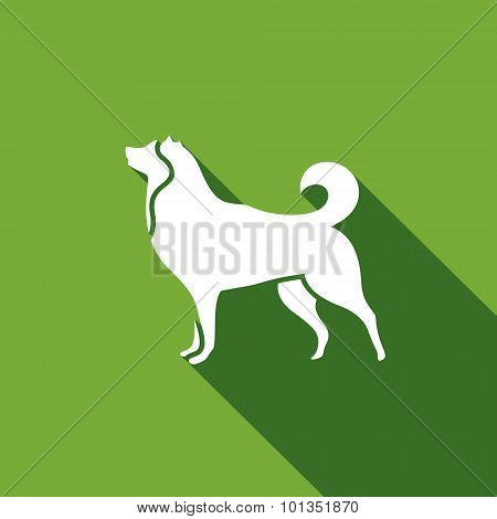 Husky Dog Icon. Vector Illustration.