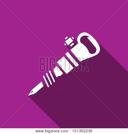Jackhammer Icon. Vector Illustration.