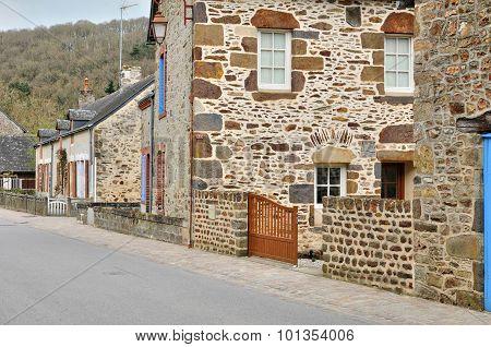 France, Picturesque Village Of Saint Leonard Des Bois