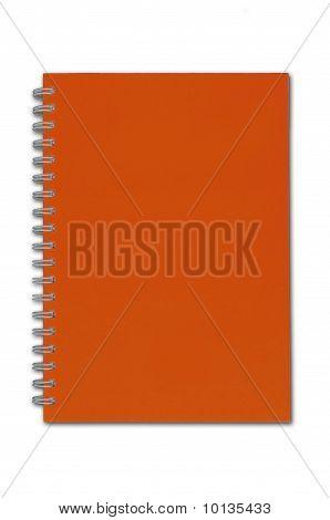 Orange Color Blank Notebook