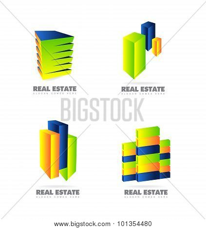 Real Estate Logo Set Icon