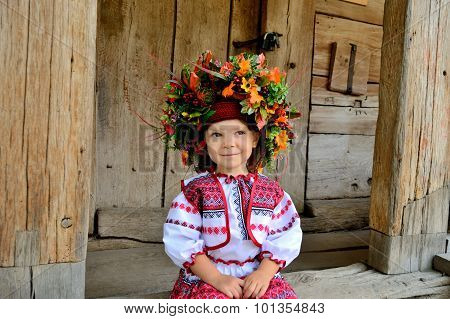 Girl In The Ukrainian National Clothes
