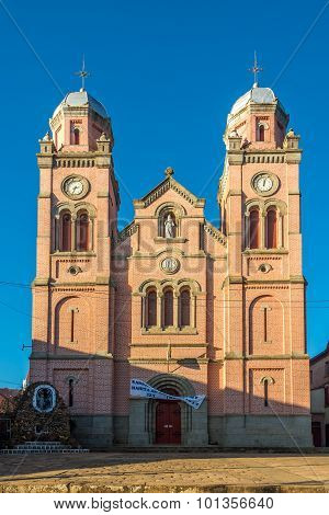 Colonial Ccathedral In Upper Town Of Fianarantsoa