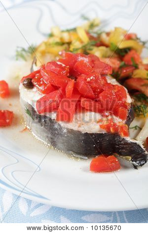 Baked Conger With Vegetables