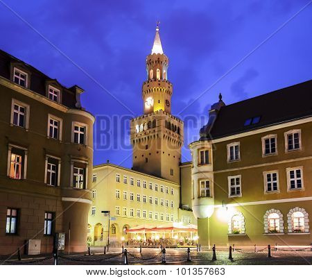 Opole City In The Night
