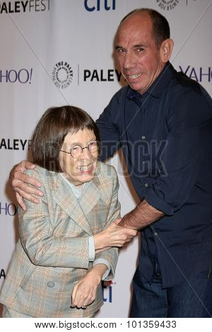 LOS ANGELES - SEP 11:  Linda Hunt, Miguel Ferrer at the PaleyFest 2015 Fall TV Preview - NCIS: Los Angeles at the Paley Center For Media on September 11, 2015 in Beverly Hills, CA