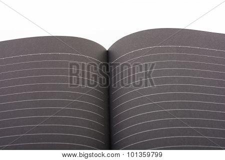 Black Open Book Note