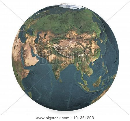Globe Of The World. Eurasia