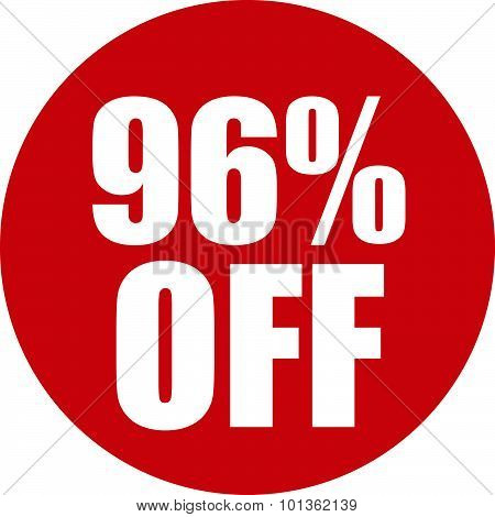 96 Percent Off Icon