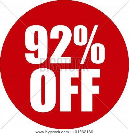 93 Percent Off Icon