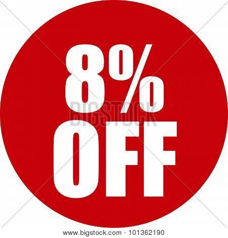 8 Percent Off Icon