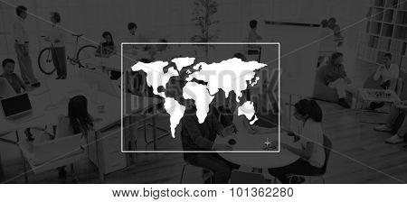 Global World Cartography Business International Concept