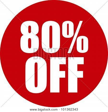 80 Percent Off Icon