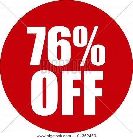 76 Percent Off Icon