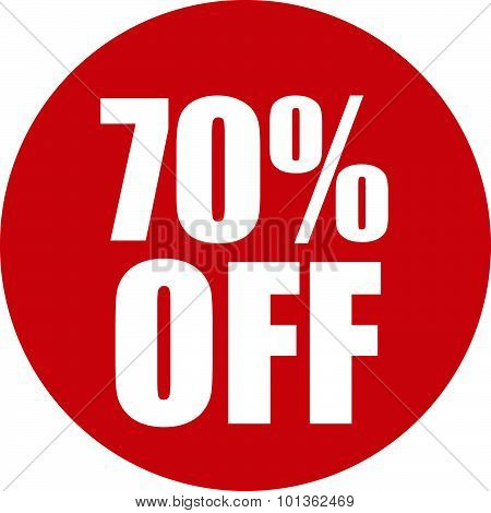 70 Percent Off Icon