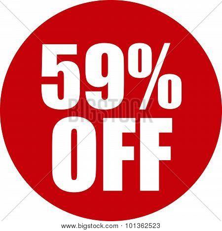 59 Percent Off Icon