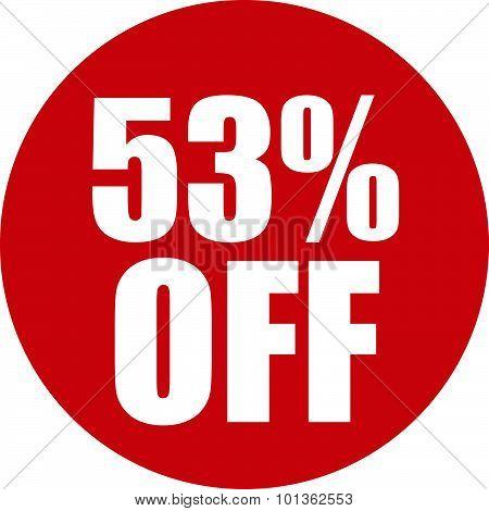 53 Percent Off Icon