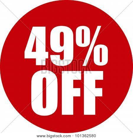 49 Percent Off Icon