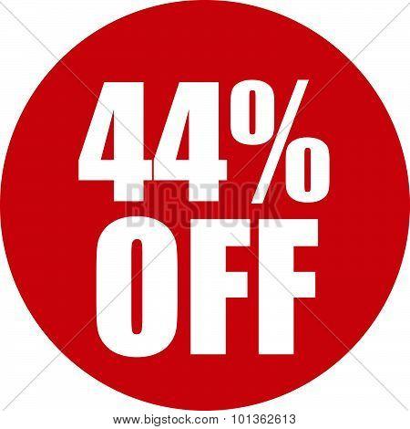 44 Percent Off Icon