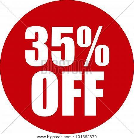 35 Percent Off Icon