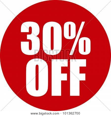 30 Percent Off Icon