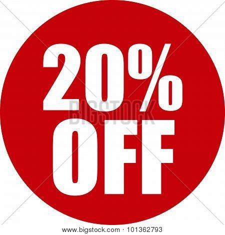20 Percent Off Icon