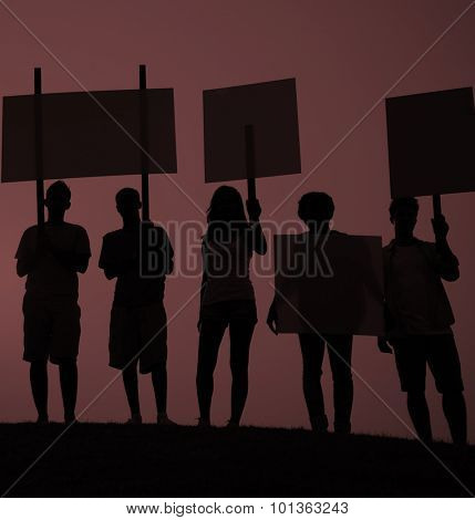 Protest Group Unity Crowd People Communication Concept