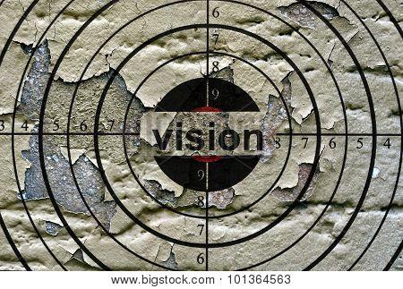 Vision Target Grunge Concept