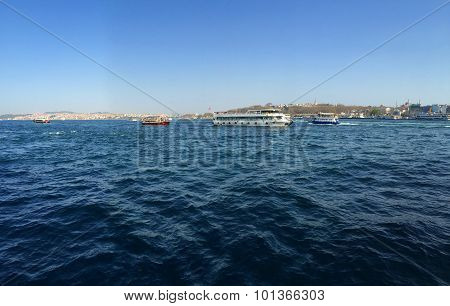 Boats in the Golden Horn, Istambul