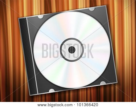 Dvd Disk On Wooden Desk