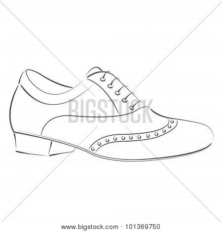 Sketched man s shoe