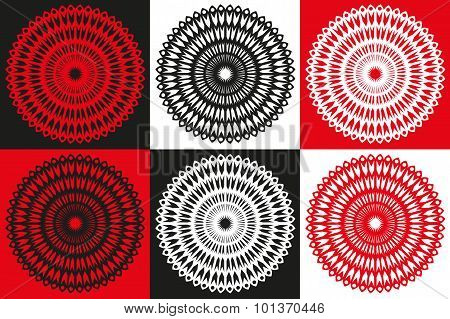Circle Of Abstract Vector Isolated