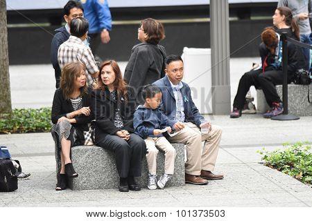 911 family at memorial
