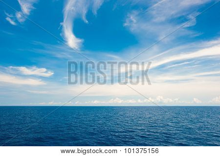 Cloudy Sky And Sea Summer Scenery
