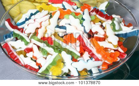 Many Colored Gummy Candies
