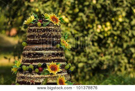 Cake With Sunflowers Sugar